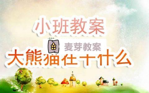 幼兒園小班教案《大熊貓在幹什麼》