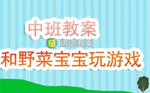 幼兒園中班教案《和野菜寶寶玩遊戲》含反思